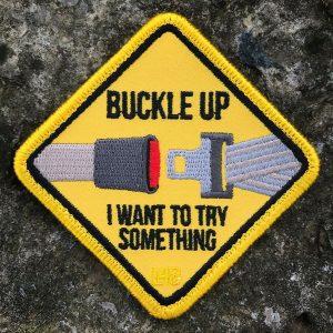 Seatbelt Buckle Up Velcro Patch