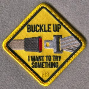 Buckle Up Seat Belt Patch