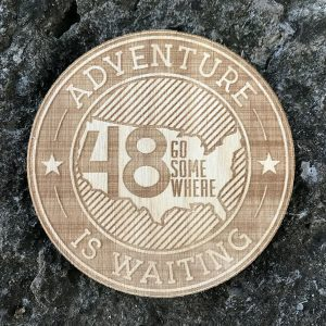 Adventure Wooden Patch Badge