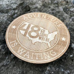 Adventure Wooden Patch Badge