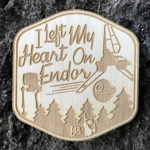 Endor Wooden Star Wars Badge Patch