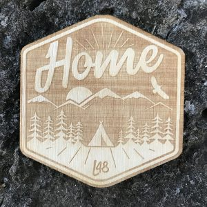 Home Outdoors Wooden Patch Badge