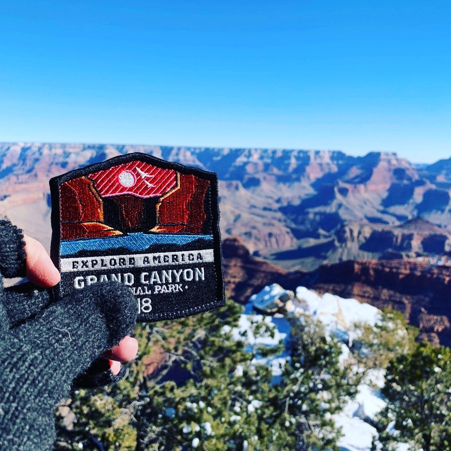 Well this is awesome. Who is collecting the Explore America series of patches?  . . . . #ExploreAmerica #GrandCanyon #ExploreNationalParks #NationalParks #GrandCanyonNationalPark #Overlanding
