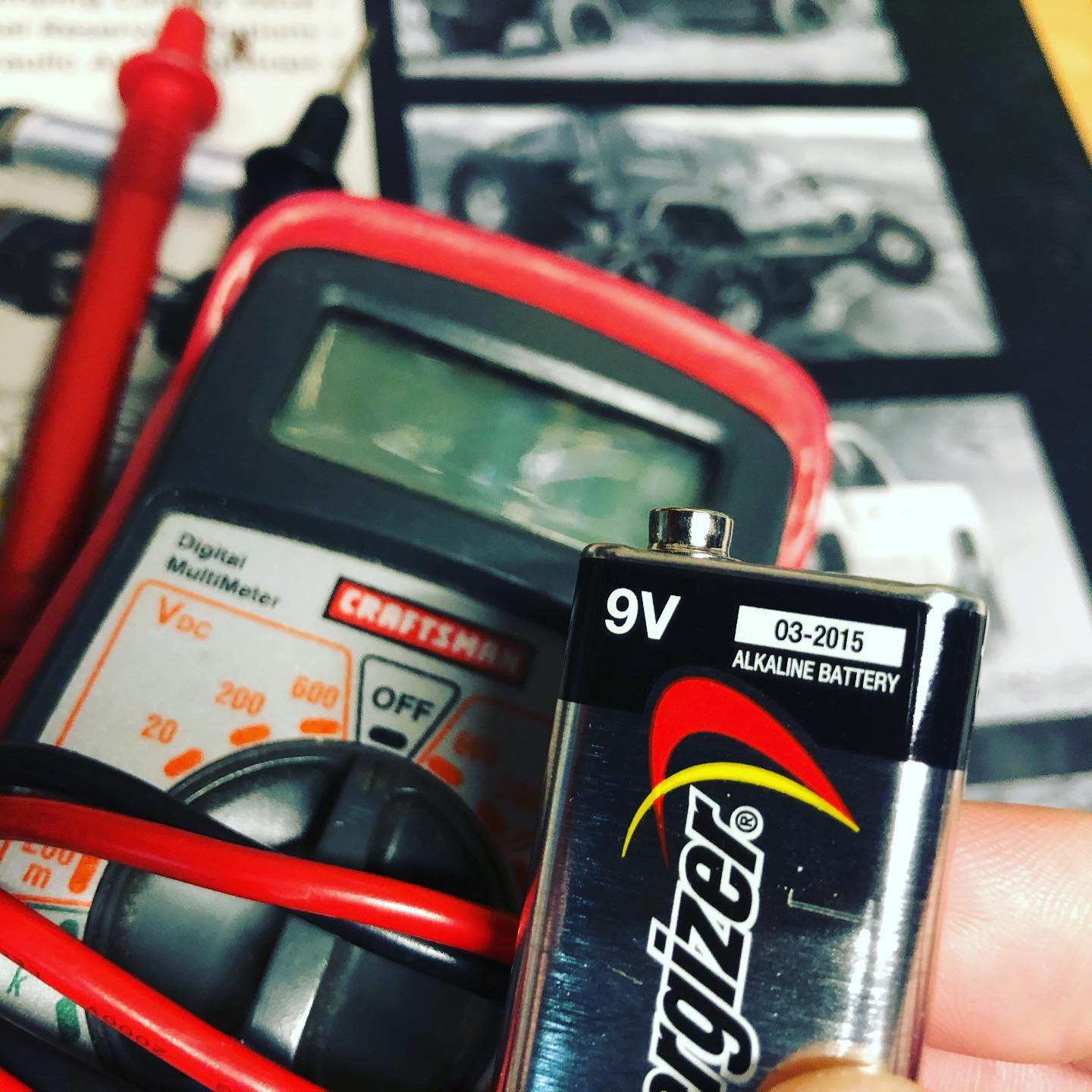 How about that for battery life? Check the year on that 9v!  . . . . . #Tools #Voltmeter #Battery