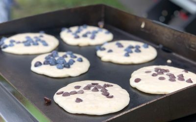 Just roughing it this weekend.  . . . . . . #Glamping #GlampLife #Pancakes #Blackstone