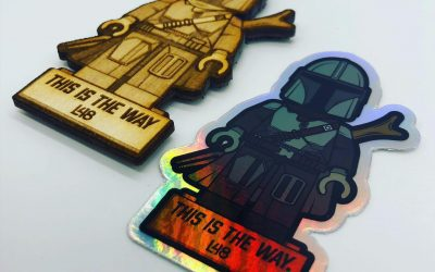 Limited Edition Wood Mando Patches with Holo Sticker Included!  . . . . . . #ThisIsTheWay #AvailableNow #LowStock #MoralePatch #Mando #Mandalorian #StarWars