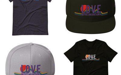 Love Moves Mountains. . . . . . . #LoveMovesMountains #LoveIsLove #Pride #PrideMonth #PrideMonth2021 #PrideApparel #OutdoorApparel